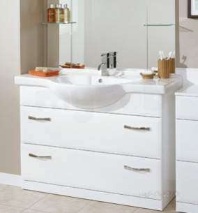 Flabeg Cabinets And Mirrors -  Hib 993.991136 White Sorrento 1100mm Wash Basin One Tap Hole