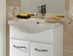 Flabeg Cabinets And Mirrors -  Hib 993.995536 White Sorrento 550mm Wash Basin One Tap Hole