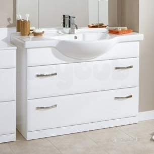Flabeg Cabinets And Mirrors -  Hib 993.471115 Sorrento 2 Drawer Bathroom Vanity Base Unit For 1100mm For Wash Basin