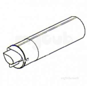 Ideal Logic Logic Plus Flues and Accessories -  Ideal 205990 Na Logic 80mm Rear Heat Only Flue Kit