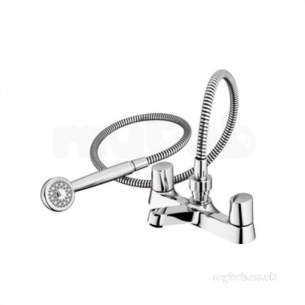 Ideal Standard Brassware -  Ideal Standard B9675aa Chrome Alto Dual Knob Bath Filler With Ceramic Disc And Hand Set
