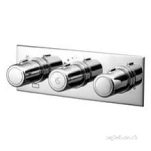 Ideal Standard Showers -  Ideal Standard A5603aa Chrome Attitude Thermostatic Shower Mixer Two Outlets