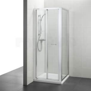 Ideal Standard Kubo Enclosures -  Ideal Standard T7377eo Bright Silver Kubo 900mm Bi-fold Door