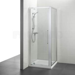 Ideal Standard Kubo Enclosures -  Ideal Standard T7374eo Bright Silver Kubo 900mm Pivot Door