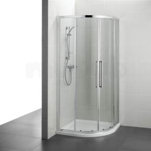 Ideal Standard Kubo Enclosures -  Ideal Standard Bright Silver Kubo Shower Enclosures And Screens 780mm Widex1950mm Highx780mm Depth