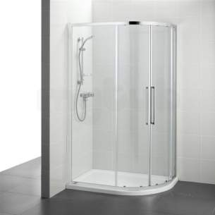 Ideal Standard Kubo Enclosures -  Ideal Standard Bright Silver Kubo Shower Enclosures And Screens 980mm Widex1950mm Highx780mm Depth