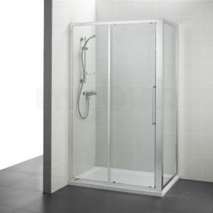 Ideal Standard Kubo Enclosures -  Ideal Standard T7370eo Bright Silver Kubo 900mm Slider Door