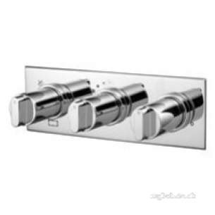 Ideal Standard Showers -  Ideal Standard A5598aa Chrome Monuments Thermostatic Shower Mixer With 3-way Diverter