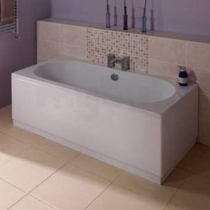 Jacuzzi Acrylic Baths and Panels -  Jacuzzi Pro Wbsprohil700 White Hiline Front Bath Panel 1700x510mm