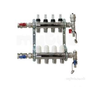 John Guest Underfloor Heating Components -  John Guest Jgufhman6/2 Nickel Plated 6 Zone Stainless Steel Manifold
