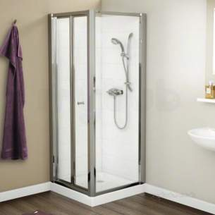 Mira Ace Shower Enclosures -  Mira 108373 Silver Flight Ace 900mm Shower Side Panels With 4 Mm Toughened Glass