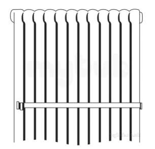 Myson Column Radiator Accessories -  Myson 81-2105 White Towel Rail For 12 Section Column Radiator
