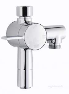 Rada Commercial Products -  Rada 1.1651.007 Chrome V12 Single Handle Exposed Two Outlet Diverter Valve