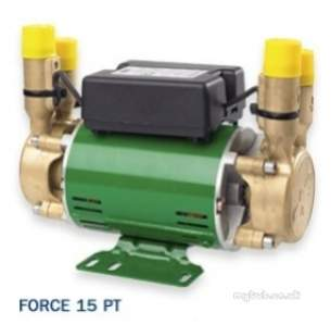 Salamander Shower Pumps -  Force Shower Pump Brass End Twin Water Supply For Positive Head At 1.5 Bar