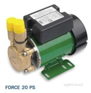 Salamander Shower Pumps -  Force Shower Pump Brass End Single Water Supply For Positive Head At 2.0 Bar
