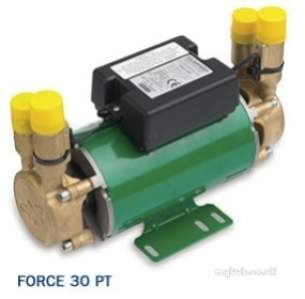 Salamander Shower Pumps -  Force Shower Pump Brass End Twin Water Supply For Positive Head At 3.0 Bar