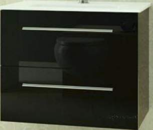 Salgar Showroom Furniture -  Salgar 15579 Black Creta Vanity Cabinet 560x598 Mm