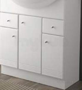 Bathroom Furniture -  Salgar 9452 White Polo Vanity Cabinet 810x700mm