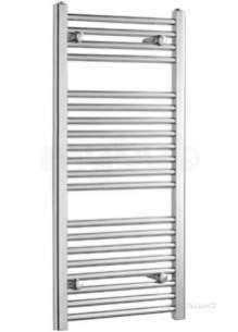 Caradon Ladder Towel Rails -  Stelrad 142769 Chrome Straight Ladder Heated Towel Rail 1800mm H X 600mm W