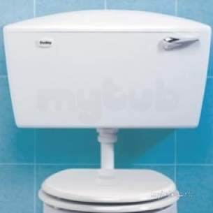 Thomas Dudley Cisterns -  Thomas Dudley Pelwhb318491 White Elite Cistern With Bottom Inlet Bottom Outlet