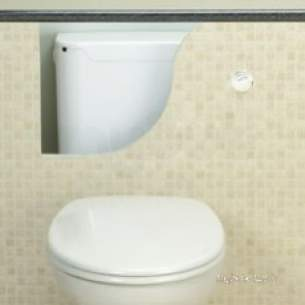 Thomas Dudley Cisterns -  Thomas Dudley 322879 Chrome Miniflo Concealed Cistern With Bottom Inlet And Single Flush