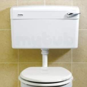 Thomas Dudley Cisterns -  Thomas Dudley Pslwhs315262 White Slimline Low Level Cistern With Dual Flush