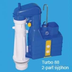 Thomas Dudley Cisterns -  Thomas Dudley Pspsy8316880 Na Turbo 88 Two-part Syphon With 8.5 Height