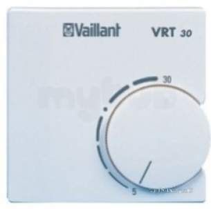 Vaillant Domestic Gas Boilers -  Vaillant 300637 White Vrt30 Analogue Room Thermostat