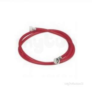 Washing Machine Taps and Hoses -  Cooksey 01 Wh251 Red Washing Machine Hose 2.5 M