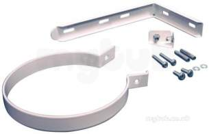 Worcester Oil Boilers -  7716191174 White Support Bracket For Flues 80/125mm