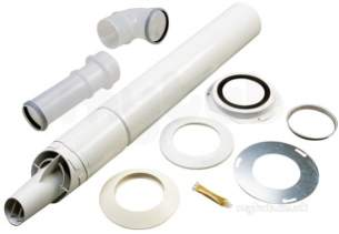 Worcester Domestic Gas Boilers -  7719002434 White Greenstar Highflow Standard Flue Kit