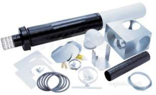 Worcester Oil Boilers -  7716190044 Black/white Oilfit 100 /150 Vertical Balanced Flue Kit