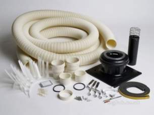 Worcester Oil Boilers -  7716190076 Black/white Oilfit Flexible Flue Kit 100mm 8 M