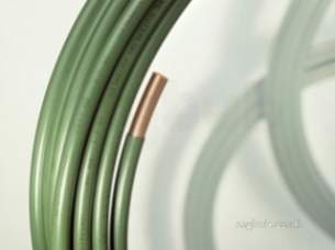 Copper Coils -  Green Kuterlex 20 Metre Green Underground Copper Tube Coil 15mmx1.0mm