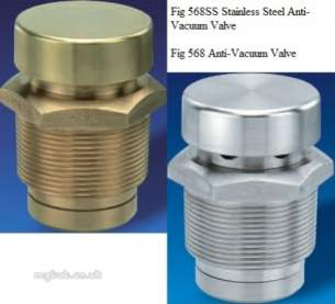 Nabic Safety Valves -  Nabic Anti Vacuum Valve Fig 568 15mm