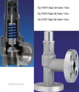 Nabic Stainless Steel Safety Valves -  Nabic Stainless Safety Valve 500fn 25