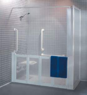 Neaco Shower Trays -  Neatdek 3 1524x860mm Left Hand Grille And Tray Wh