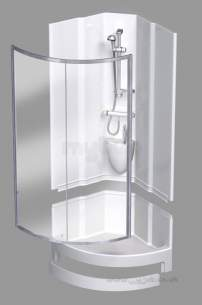 Coram Shower Pods -  Coram 950 Quad Pod Crescent Door Ch/cl Door Only