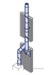 SFL Sw Chimney Flue -  Sfl Nova Sm Tele Floor Support Ss 300mm