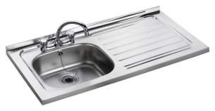 Rangemaster Sinks -  Contract Lc156l 1500 X 600 Dbsd Sq Frnt Ss