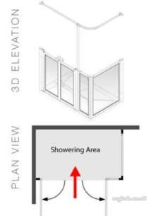 Akw Level Access Showering -  Ake Optn D 750 High Screen Set 1200 X 700 Lh