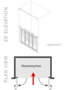 Akw Level Access Showering -  Akw Option N 750 High Screen Setx1350 Nh