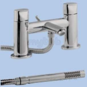 Twyfords Contemporary Brassware -  Orb 2 Tap D/m Bath Shower Mixer Rb5265cp