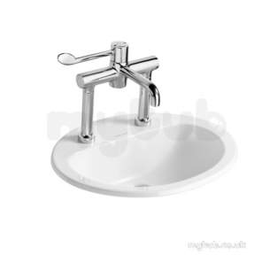 Armitage Shanks Commercial Sanitaryware -  Armitage Shanks Orbit 21 Ctop 55 White One Tap Hole Of Noch