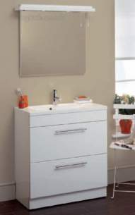 Eastbrook Furniture -  1.076 Oslo 800mm Drawer Base Unit White