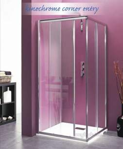 Saniflo Kinedo Shower Cubicles -  Kinechrome 900 X 900mm Corner Entry