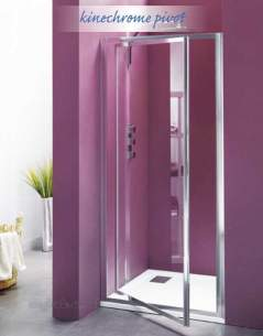 Saniflo Kinedo Shower Cubicles -  Saniflo Nechrome 800mm Pivot Door