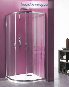 Saniflo Kinedo Shower Cubicles -  Saniflo Nechrome 900 X 900mm Quadrant