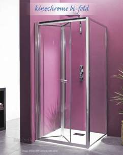 Saniflo Kinedo Shower Cubicles -  Saniflo Nechrome 760mm Bifold Door