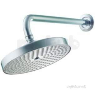 Pegler Shower Fittings -  Waterfall Round Sealed Fixed Head And Arm